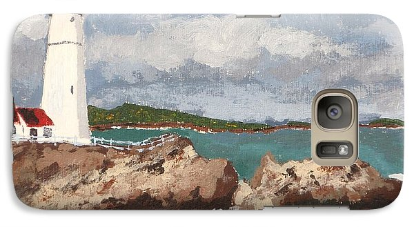 Galaxy Case featuring the painting Beacon Of Love by Cynthia Morgan