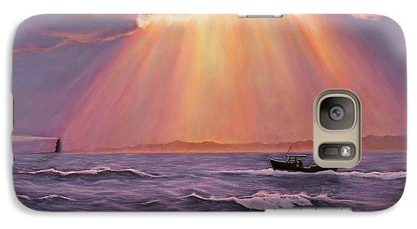 Galaxy Case featuring the painting Beacons Of Light by Cindy Lee Longhini