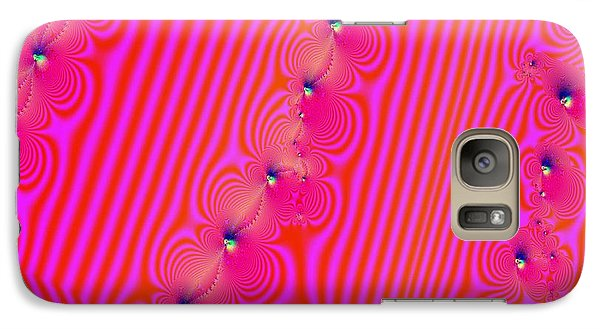 Galaxy Case featuring the digital art Beaded Pink by Luther Fine Art
