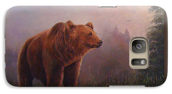 Galaxy Case featuring the painting Bear In The Mist by Donna Tucker
