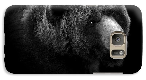 Great White Shark Galaxy S7 Case - Portrait Of Bear In Black And White by Lukas Holas