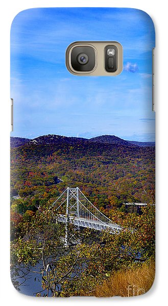 Galaxy Case featuring the photograph Bear Mountain Bridge From Camp Smith Trail by Rafael Quirindongo