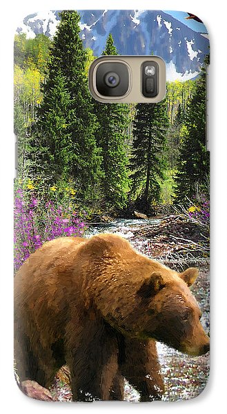 Galaxy Case featuring the painting Bear Necessities by Doug Kreuger