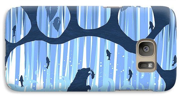 Salmon Galaxy S7 Case - Bear Paw by Daniel Hapi