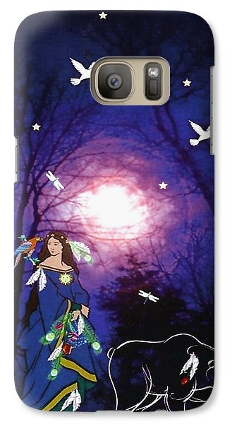 Galaxy Case featuring the digital art Bear Spirit by Mary Anne Ritchie