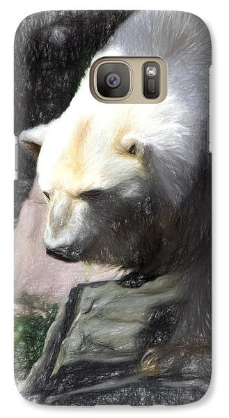 Galaxy Case featuring the digital art Bear Visions by Terry Cork