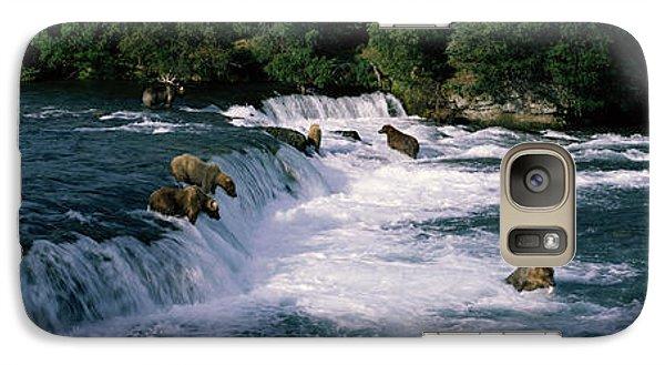 Bears Fish Brooks Fall Katmai Ak Galaxy S7 Case