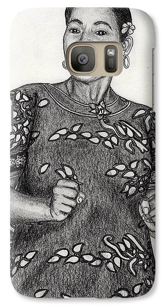 Galaxy Case featuring the drawing Beat Woman by Lew Davis