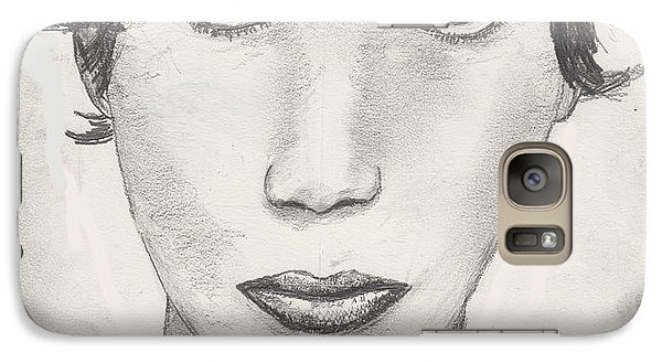Galaxy Case featuring the drawing Beau by David Jackson