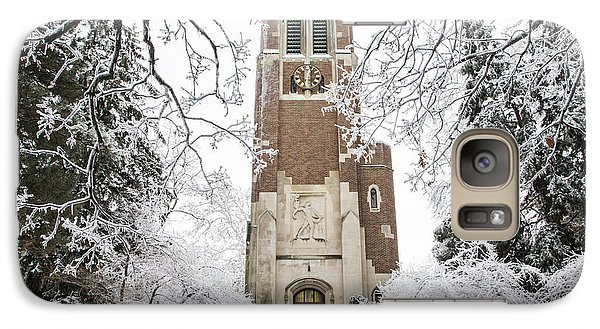 Michigan State Galaxy S7 Case - Beaumont Tower Ice Storm  by John McGraw