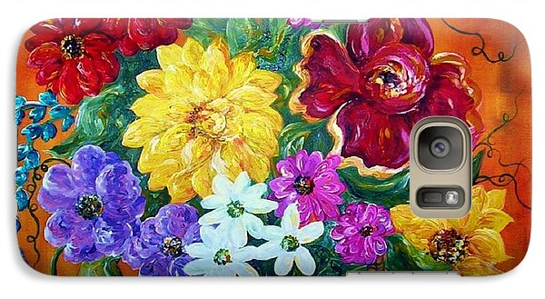 Galaxy Case featuring the painting Beauties In Bloom by Eloise Schneider