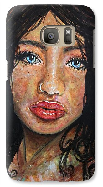 Galaxy Case featuring the painting Beautiful Ambiguity by Malinda  Prudhomme