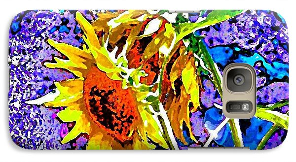 Galaxy Case featuring the painting Beautiful And Bright Sunflowers by Annie Zeno