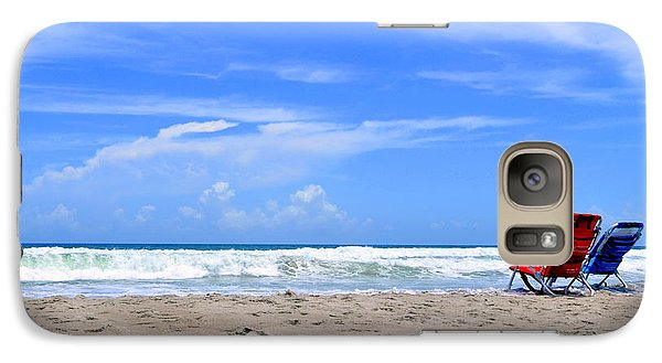 Galaxy Case featuring the photograph Beautiful Beach Day by Laura DAddona