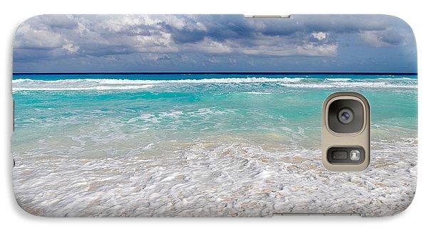 Beautiful Beach Ocean In Cancun Mexico Galaxy S7 Case