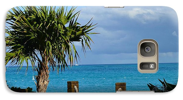 Galaxy Case featuring the photograph Beautiful Day At The Beach by Judy Wolinsky