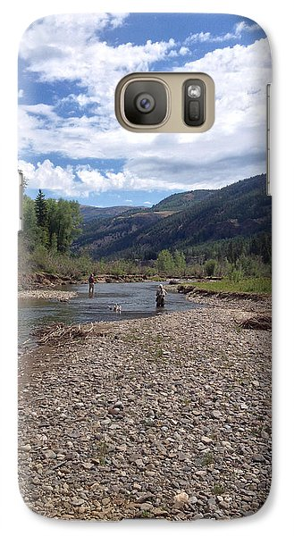 Galaxy Case featuring the photograph Beautiful Day On The River by Max Mullins
