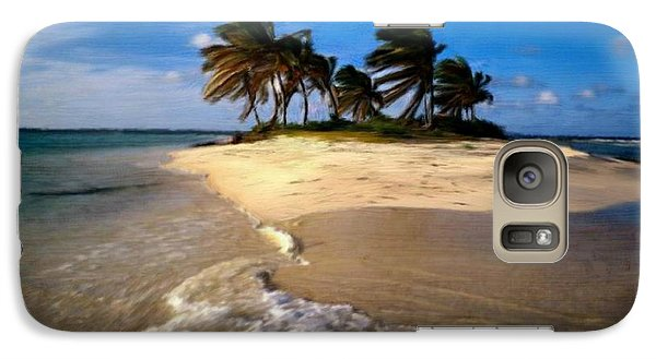 Galaxy Case featuring the painting Beautiful Island by Bruce Nutting