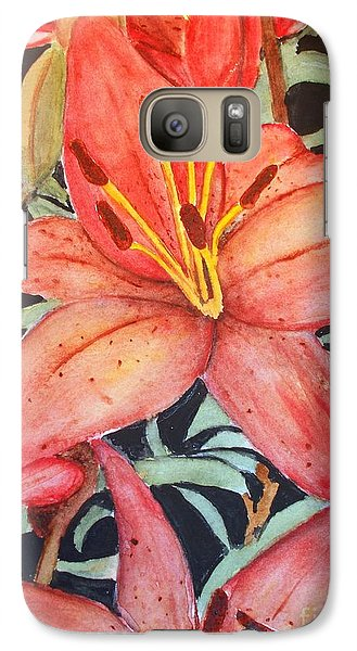 Galaxy Case featuring the painting Beautiful Lilies by Carol Grimes