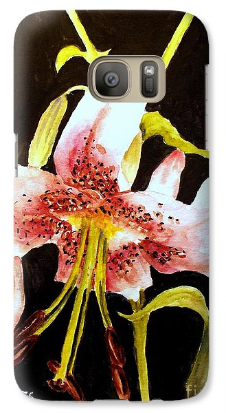 Galaxy Case featuring the painting Beautiful Lily by Carol Grimes