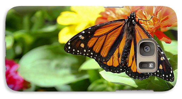 Galaxy Case featuring the photograph Beautiful Monarch Butterfly by Patrice Zinck