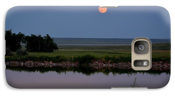 Galaxy Case featuring the photograph Beautiful Moon Over Kinney Lake by Clarice  Lakota