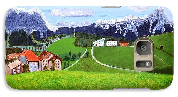 Galaxy Case featuring the painting Beautiful Norway by Magdalena Frohnsdorff