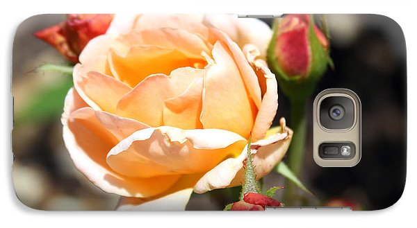 Galaxy Case featuring the photograph Beautiful Peach Orange Rose by Ellen Tully