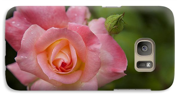 Galaxy Case featuring the photograph Shades Of Pink And Green by David Millenheft