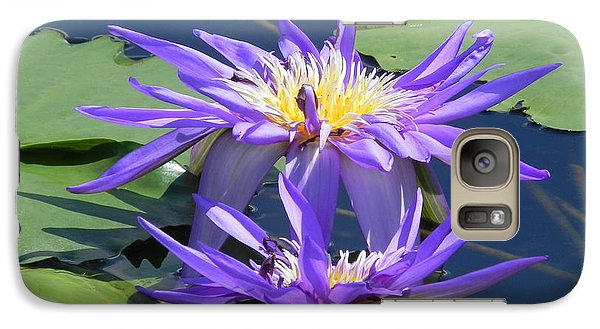 Galaxy Case featuring the photograph Beautiful Purple Lilies by Chrisann Ellis