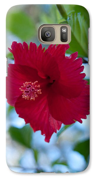 Galaxy Case featuring the photograph Beautiful Red Hibiscus by John Black