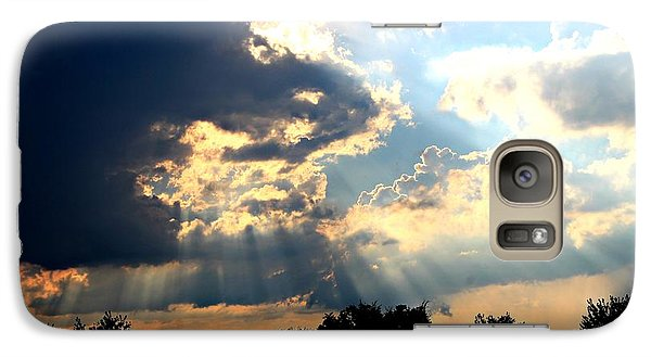 Galaxy Case featuring the photograph Beautiful Sunrays by Candice Trimble