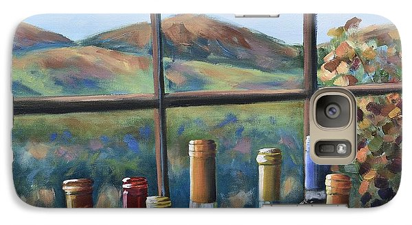 Galaxy Case featuring the painting Beautiful View by Donna Tuten