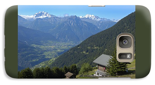 Beautiful View From Riederalp - Swiss Alps Galaxy S7 Case by Matthias Hauser
