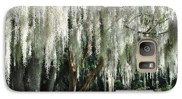 Galaxy Case featuring the photograph Beautiful White Spanish Moss Hanging From Trees by Jodi Terracina
