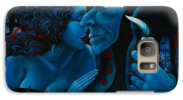 Galaxy Case featuring the painting Beauty And The Beast by Igor Postash