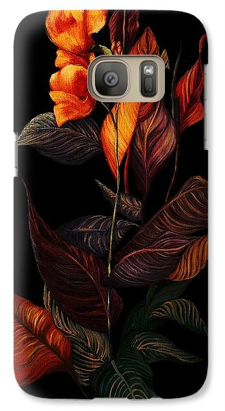 Galaxy Case featuring the painting Beauty In The Dark by Yolanda Raker