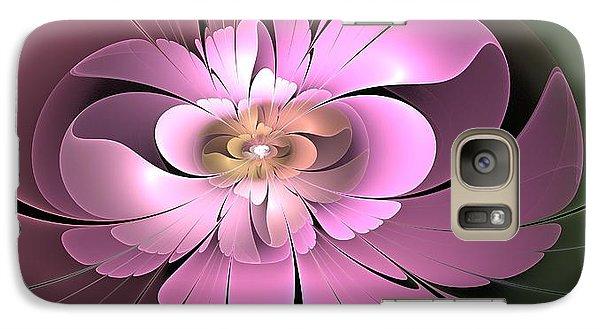Galaxy Case featuring the digital art Beauty Queen Of Flowers by Svetlana Nikolova