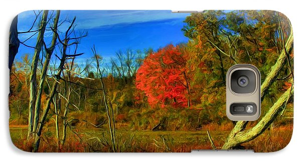 Galaxy Case featuring the digital art Beaver Marsh In October by Dennis Lundell