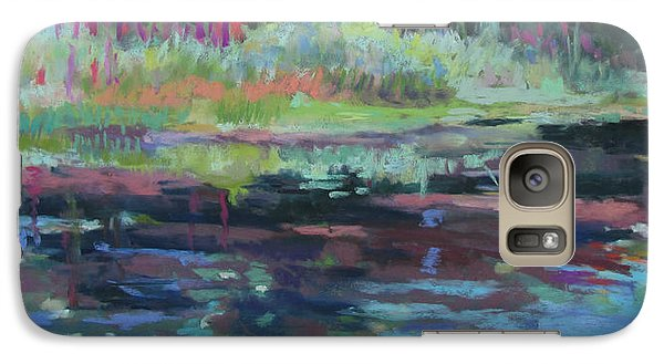 Galaxy Case featuring the painting Beaver Pond by Linda Novick
