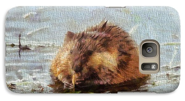 Beaver Portrait On Canvas Galaxy S7 Case