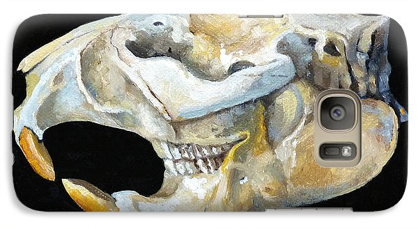 Beaver Skull 1 Galaxy S7 Case by Catherine Twomey