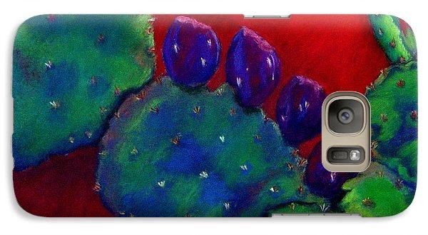 Galaxy Case featuring the pastel Beavertail Cactus  Pastel by Antonia Citrino