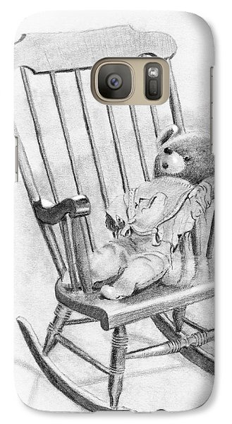 Galaxy Case featuring the painting Becky's Teddy by Dan Redmon