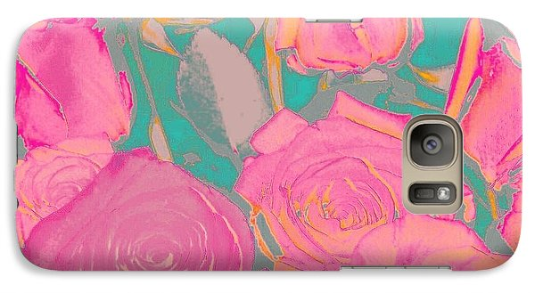 Galaxy Case featuring the photograph Bed Of Roses I by Shirley Moravec