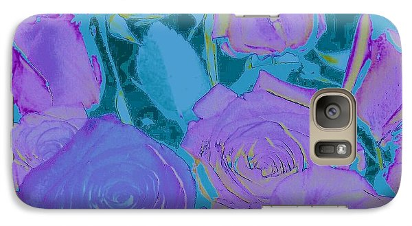 Galaxy Case featuring the photograph Bed Of Roses II by Shirley Moravec