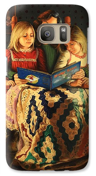 Galaxy Case featuring the painting Bedtime Stories by Glenn Beasley