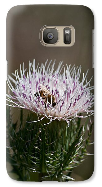 Galaxy Case featuring the photograph Bee And Pollination Pla 508 by G L Sarti