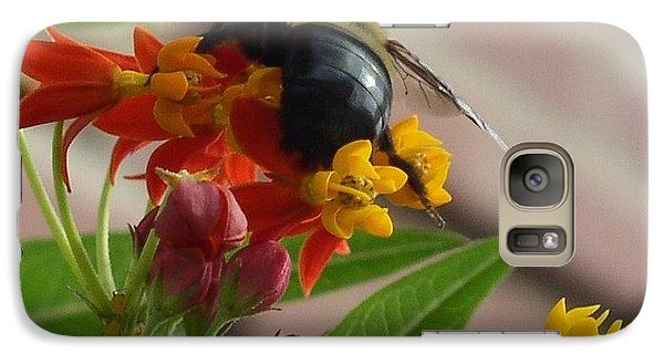 Galaxy Case featuring the photograph Bee Close Up by Cleaster Cotton