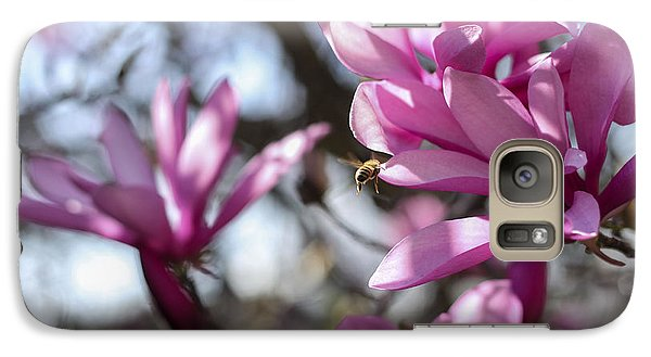 Galaxy Case featuring the photograph Bee In Flight by Amber Kresge